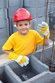Boy At Construction Site