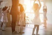 Kid Practice Ballet Dancing poster