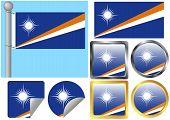 Sinalizador definido das Ilhas Marshall