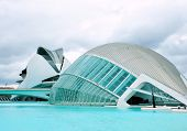 VALENCIA, SPAIN - JULY 22: Hemisferic in The City of Arts and Sciences on July 22, 2011 in Valencia,