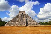 Ancient Chichen Itza Kukulcan Mayan Pyramid Yucatan Mexico