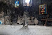 image of apostolic  - The stone cross in armenian apostolic church Armenia - JPG