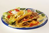 Crispy Taco Mexican Plate