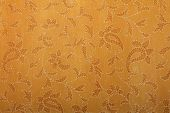 mustard handmade art paper with ethnic print