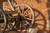 picture of ox wagon  - old cart in Bulgarian village near the border with Greece - JPG