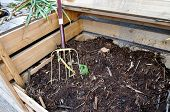 Compost Bin With Fork