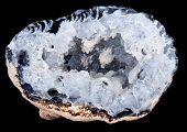 Interior Of A Geode Quartz Crystal Rock