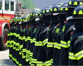 Fire Fighters In A Line