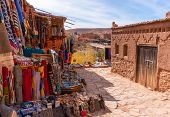 Streets In The Fortified Town Of Ait Ben Haddou Near Ouarzazate On The Edge Of The Sahara Desert In  poster