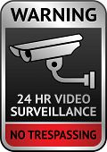 Video surveillance label