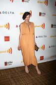 LOS ANGELES - APR 21:  Milla Jovovich arrives at the 23rd GLAAD Media Awards at Westin Bonaventure H