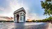 Paris Triumphal Arch the Arc de Triomphe de l'Etoile, France poster