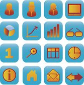 16 business vector icon set
