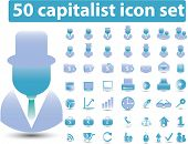 50 capitalist icons vector set