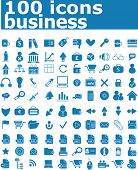 100 business icon - web vector set (easy edit)
