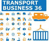 transport business - vector set