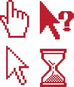 red cursors for advertising.vector.