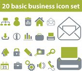 20 business icons. green series. vector. please, visit my portfolio to find more similar.