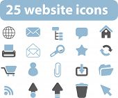 25 website icons. vector