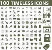 100 timeless icons. vector