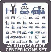 auto service icons. vector