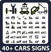 40+ cars signs. vector