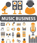 music business. vector
