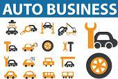 auto business. vector