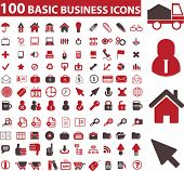 100 business signs. vector