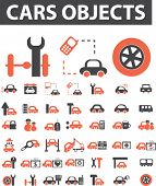 cars objects. vector