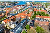 Beautiful Aerial View Of Copenhagen From Above, Denmark poster