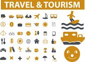 travel & tourism signs. vector