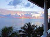 Sun Setting In St Lucia From The Balcony