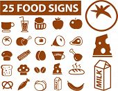 25 food signs. vector