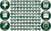 100 mega glossy buttons. vector