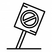 Protest Placard Icon. Outline Protest Placard Vector Icon For Web Design Isolated On White Backgroun poster