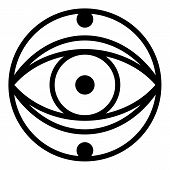 Mystery Eye Icon. Outline Mystery Eye Vector Icon For Web Design Isolated On White Background poster