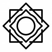 Square Circle Alchemy Icon. Outline Square Circle Alchemy Vector Icon For Web Design Isolated On Whi poster