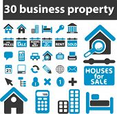 30 business property signs. vector