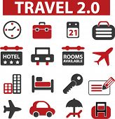 travel signs. vector