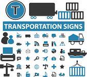 36 logistics & transport buttons. vector
