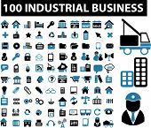100 industrial signs. vector