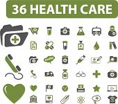 36 professional health care signs. vector