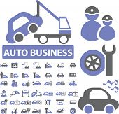 auto business signs. vector