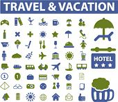 travel & vacation signs. vector