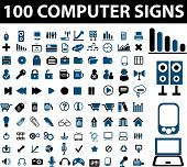 100 computer signs. raster version. see more vector signs in my portfolio