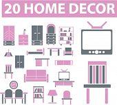 20 home decor signs. vector