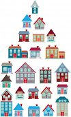 20 colorful houses. vector