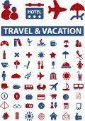 travel sings. vector