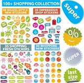 100 shopping+ collection. vector